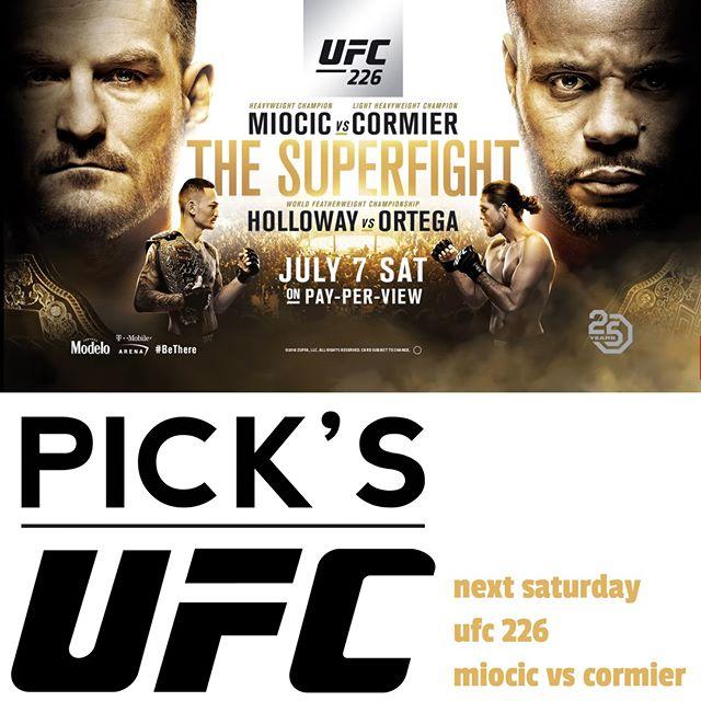 UFC 226 at Pick's