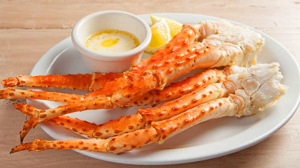 snow crab legs feature table 530 portage lakes pick's
