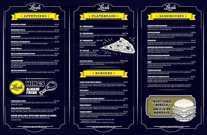 New Locals Menu Release Next Week! The Best Food In Portage Lakes, Period.