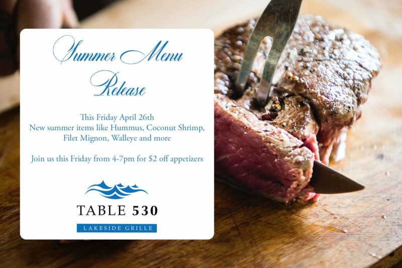 Summer Menu Release Party 2019 @ Pick's At PLX: Table 530