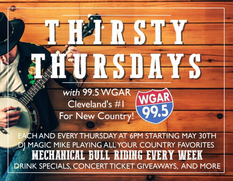 Thirsty Thursdays With  99.5FM WGAR @ Pick's At PLX