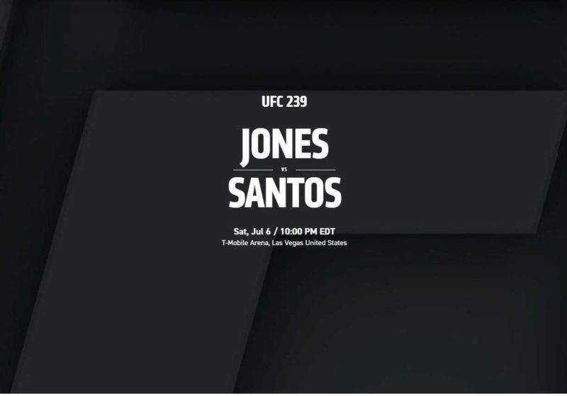 UFC 239 JONES VS SANTOS @ Pick's At Portage Lakes