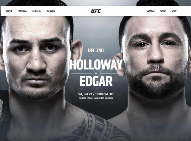 UFC 240 HOLLOWAY VS EDGAR @ Pick's At Portage Lakes