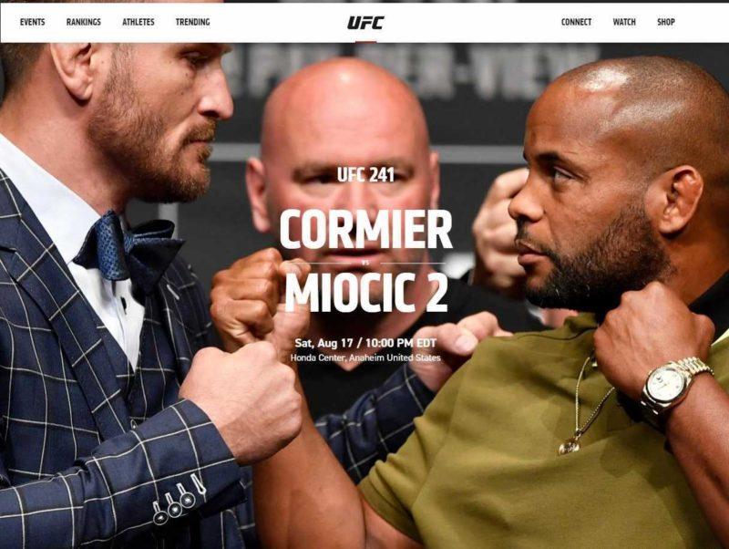 UFC 241 CORMIER VS MIOCIC 2 @ Pick's At Portage Lakes