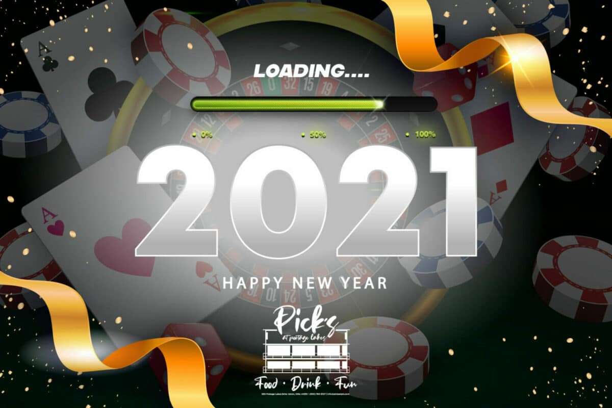 """New Year's Eve Party at Pick's In Portage Lakes """"Monte Carlo"""" Style 2020"""