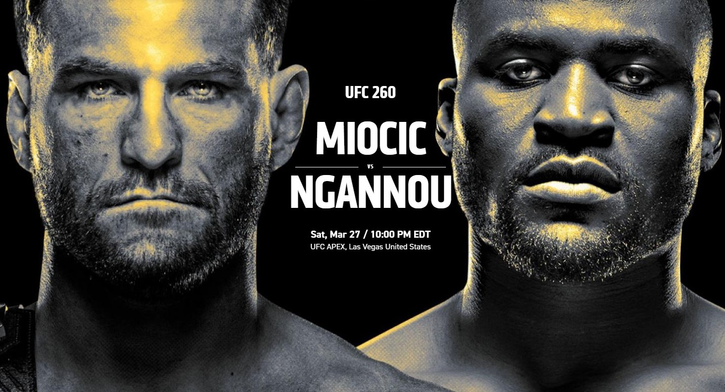 watch miocic ngannou 2 at Pick's in portage lakes
