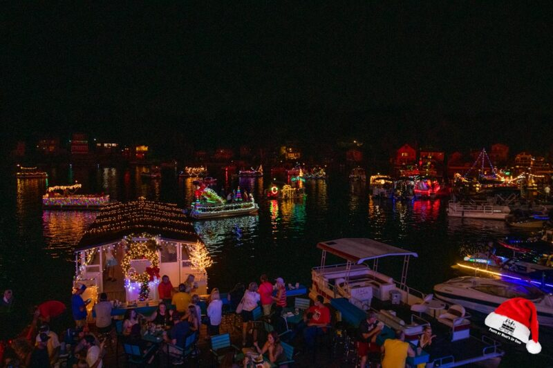 Christmas in July 2021 boat parade from years past